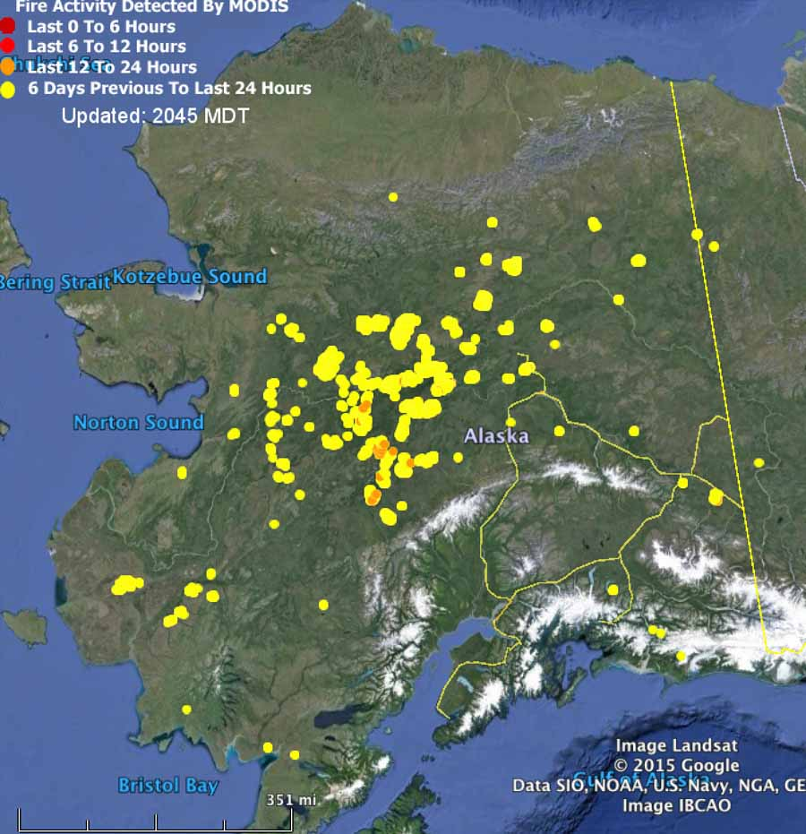 Alaska Fires at 02:45 UTC on 09 July (click to enlarge)