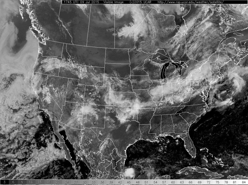Visible imagery on 09 July (click to enlarge)