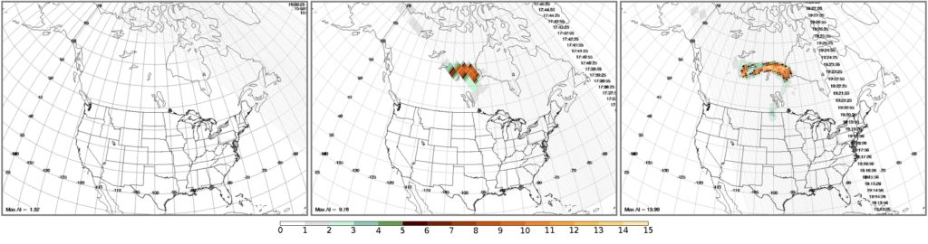 OMPS Aerosol Index image on 17 May (click to enlarge)