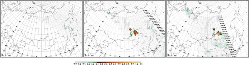 OMPS Aerosol Index image on 02 June (click to enlarge)
