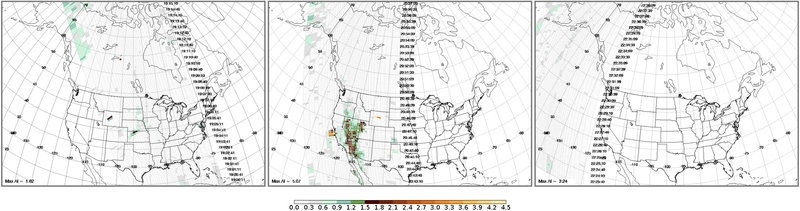 OMPS Aerosol Index image on 26 July