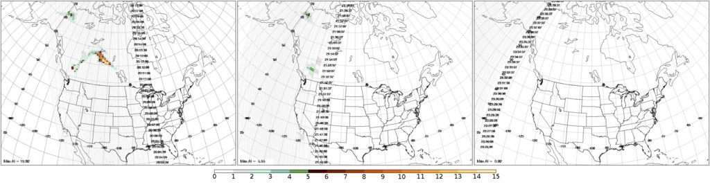 OMPS Aerosol Index image on 16 July